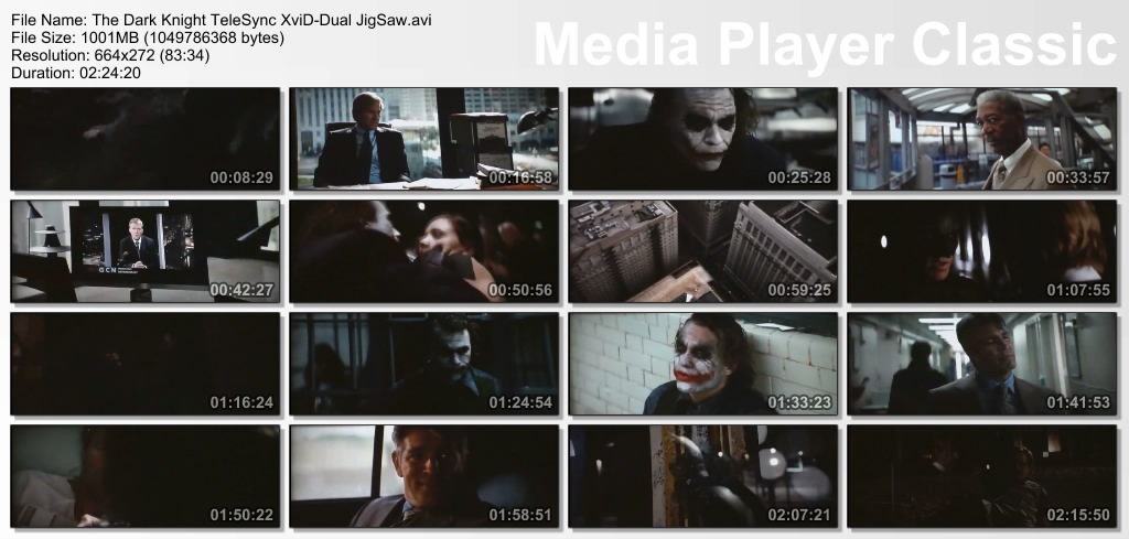 The Dark Knight TeleSync XviD Dual JigSaw avi preview 0