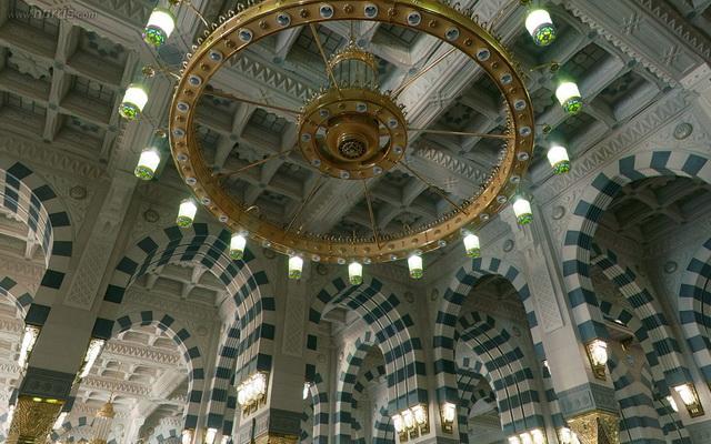شاهد مسجد النبى الكريم الداخل جميع الزوايا وكأنك بداخله بانوراما