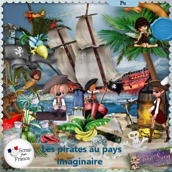 Les pirates au pays imaginaire de TinkerScrap dans Juillet lespir11